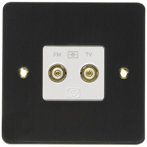 MK Edge K14322LBSW TV/FM Twin Isolated Diplexer Lacquered - Brushed Steel