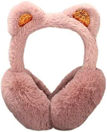 1639f24d Womens Faux Fur Earmuffs Foldable Winter Outdoor Ear Windproof Warm Earmuffs