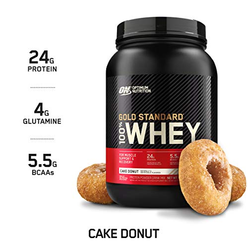 Optimum Nutrition Gold Standard 100% Whey Protein Powder, Cake Donut, 2 Pound (Packaging May Vary)