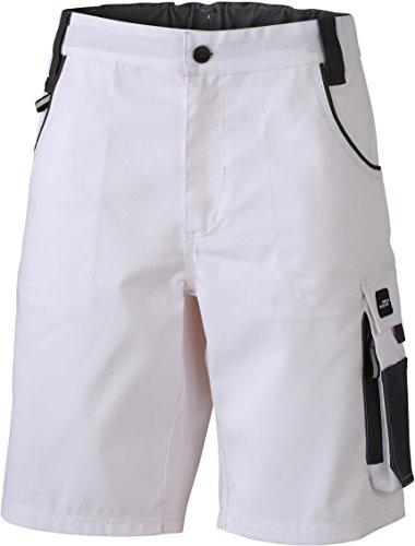James & Nicholson - Pantalón corto - para hombre White/Carbon