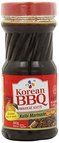 CJ Korean BBQ Sauce, Kalbi, 29.63-Ounce Bottle for Ribs