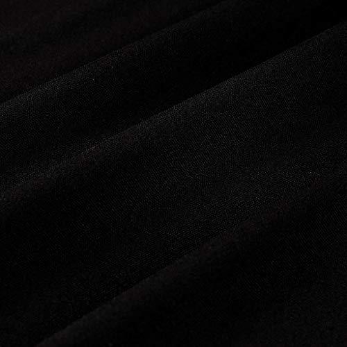 Plus Size Women Long Sleeve Baggy Midi Dress Ladies Party V Neck Lace Tunic Dress Top 2XL-6XL (Black, XXXXXL) by Unknown (Image #8)