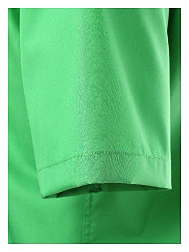 VENTI Slim Fit Hemd Halbarm Uni Popeline apfel 001620/307