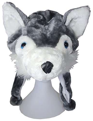 Narikiri happiness warehouse, costume fancy dress costume animal Hat turban events (Wolf)
