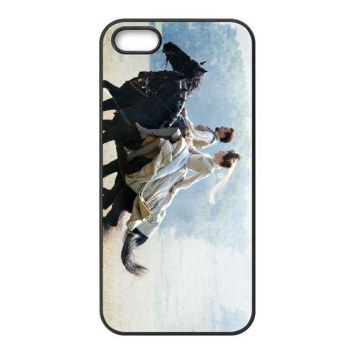 Elizabeththe Golden Age 2 coque iPhone 5 5S cellulaire cas coque de téléphone cas téléphone cellulaire noir couvercle EOKXLLNCD23459
