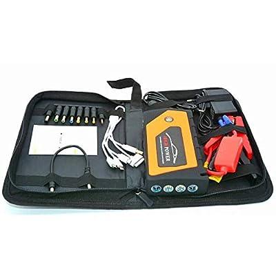 600A Peak 18000mAh, 12V Car Jump Starter, Auto Emergency Starting Booster, Portable Starting Device Lighter 4USB, 5.0L Gas, 4.0L Diesel, PU Bag(Orange)
