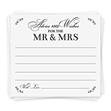 """Printed Party Advice Cards for the BrideThese sweet and simple wedding advice cards are a great addition to your wedding or bridal shower!Quality: Printed on our highest quality heavyweight smooth matte card stock with the text, """"Advice and wishes fo..."""