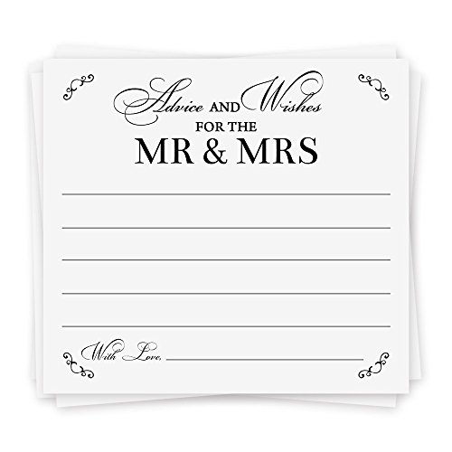 Advice and Wishes For The Mr and Mrs | 40 Cards | Wedding Advice Cards, Bridal Shower Activity, and Guest Book Alternative