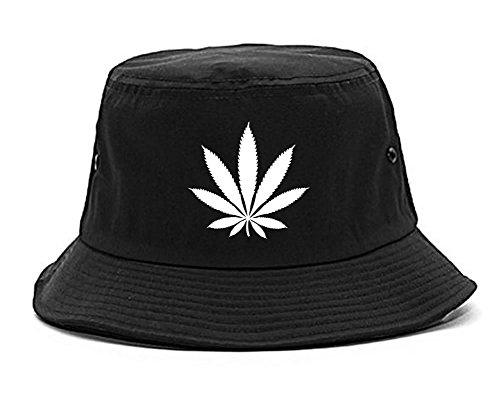 Kings Of NY Weed Leaf Marijuana Cannabis Rasta Bucket Hat 6a57394aa71f