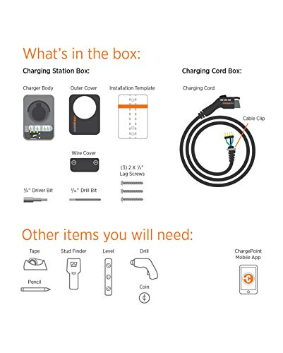 ChargePoint Home WiFi Enabled Electric Vehicle (EV) Charger - Level 2 240V EVSE, 32A Electric Car Charger for All EVs, UL Listed, ENERGY STAR Certified, Hardwired (no outlet needed), 18 Ft Cable by ChargePoint (Image #8)