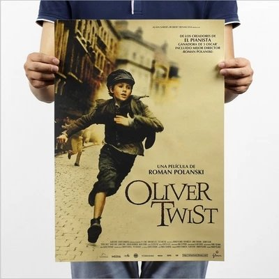 (Fangeplus(TM) Oliver Twist 2005 Movie Poster Antique Vintage Old Style Decorative Poster Print Wall Coffee Shop Bar Decor Decals 20.0''x13.9'')