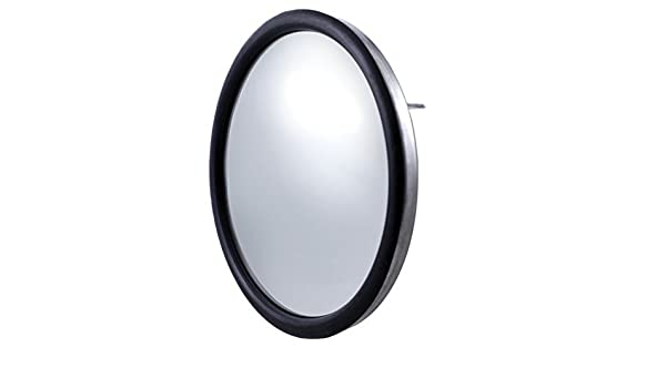 "Grand General 33261 Stainless Steel 6/"" Convex Blind Spot Mirror with Center Mount"