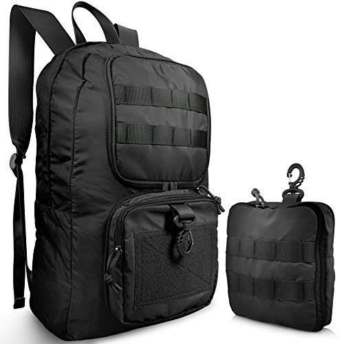 Bagbug Backpack Packable Design Military Style Waterproof Ultralight with MOLLE Dual Mode - Waist Bag/Day Pack …