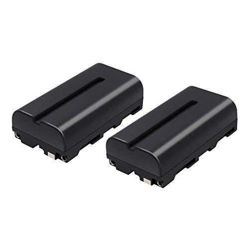 NP-F550 TURPOW NP-F550 Battery (2-Pack) for NP-F570 NP-F550 NP-F530 NP-F330 Work with Sony CCD-RV100 CCD-RV200 CCD-SC5 CCD-SC6 CCD-SC55 CCD-SC65 CCD-TRV66 CCD-TRV67 DCM-M1 DCR-SC100