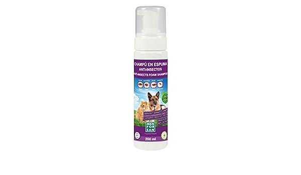 MEN FOR SAN M0283 Champú Espuma Anti-Insectos Perros y Gatos, 200 ml: Amazon.es: Productos para mascotas