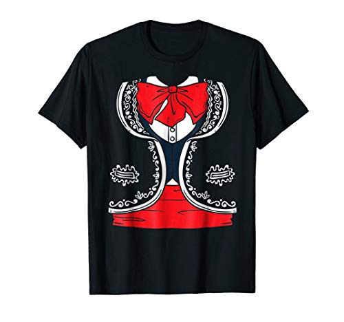 Day of the Dead Dia de los Muertos Mariachi Costume Shirt]()