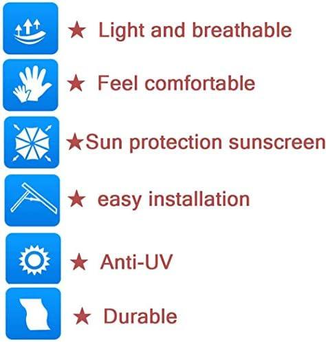 M-Y-L ToldosPantalla de Tela de Malla de Sol UV Resistente Jardín Malla Sombra Lona Pantalla de Tela Pergola Cubierta de Dosel, Color: Negro,3 * 3m