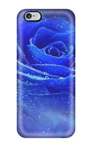 Slim Fit Tpu Protector Shock Absorbent Bumper Pretty Blue Rose Case For Iphone 6 Plus