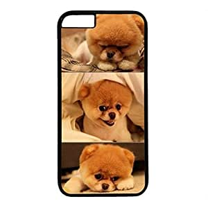 Hard Back Cover Case for iphone 6 4.7,Cool Fashion Black PC Shell Skin for iphone 6 4.7 with Cute Dog