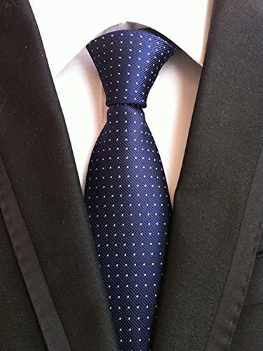 Graven Factory Seller 8cm Men's Classic Tie Jacquard Woven cravatta Ties Solid Dots Plaids Fashion Business Neckwear Party Accessories - (Color: YSXT135) -