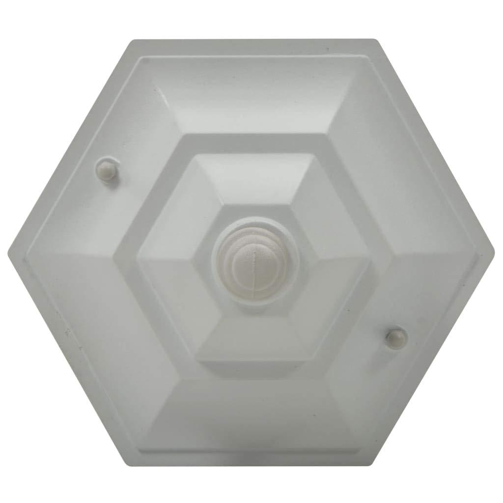 Festnight 6 pz Lampioni da Giardino E27 in Alluminio Bianco 110 cm,Lampioni da Terra per Giardino Esterno