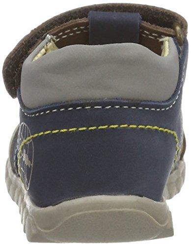 Primigi Pbn 7054, Botines de Senderismo para Bebés Multicolor (Azzurro/caffe)