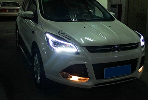GOWE Car Styling for Ford Kuga Headlights 2014-2015 Escape LED Headlight DRL Bi Xenon Lens High Low Beam Parking Fog Lamp Color Temperature:6000k;Wattage:35w 2