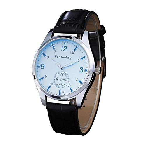 SamMoSon Relojes Hombre Resistentes Al Agua Mujer Azul Elegantes,Prenda Impermeable del Reloj del Cuarzo