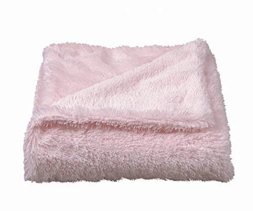 STORKI Storki Soft and Cozy Faux Fur Baby Blanket for Boys and Girls, Double Layer (Pink)