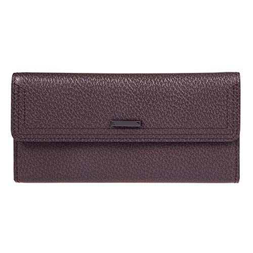 Lodis Stephanie Under Lock and Key Checkbook Clutch Wallet (Lava)