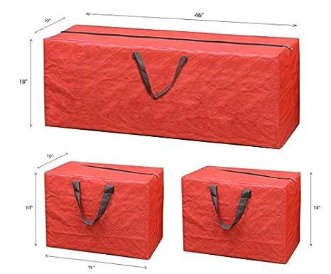 con Asas de Nailon Resistente para un f/ácil Transporte 3 Bolsas de Almacenamiento para /árbol de Navidad Resistentes y duraderas Grandes ADEPTNA
