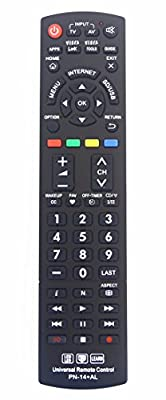 Panasonic N2QAYB000485 Universal Remote Control for All Panasonic BRAND TV, Smart TV - 1 Year Warranty