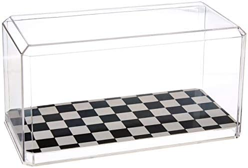 US Flag Store 94C Checkered 1:24 Scale Model Checkered Display Case Clear Black White / US Flag Store 94C Checkered 1:24 Scale Model Checkered Display Case Clear Black White