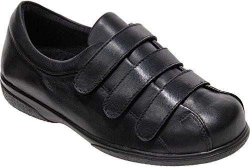Cosyfeet Alison Shoes - Extra Roomy (Eeeee+ Width Fitting) Black Leather xrbsYGLP