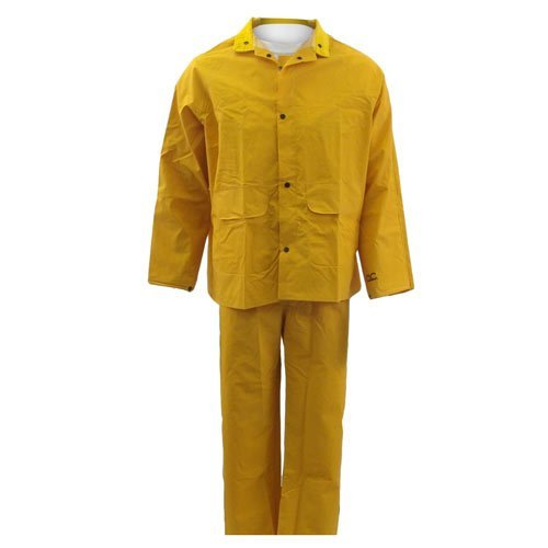 CLC Rain Wear R101 .35MM 3-Piece Rain Suit, Yellow