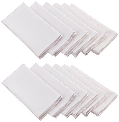 LinenTablecloth 20-Inch Ambassador Napkins (1-Dozen) White
