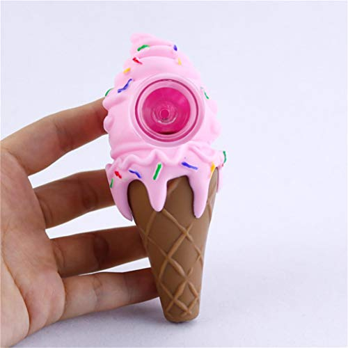 Unbreakable ice Cream Smoking Silicone Tube, 4.4