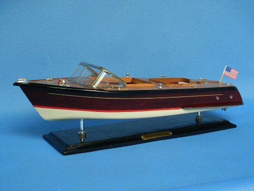 Chris Craft Runabout 20'' - Model Speed Boat - Wooden Speed Boat - Nautical Deco