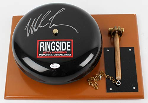 Mike Tyson Signed Autograph RARE Boxing Ring Bell JSA Witnessed Certified from Mister Mancave
