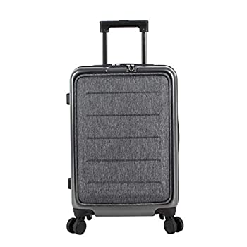 Image of Luggage Andiamo Elegante Built-in TSA Lock Suitcase - Small 20 Inch Hardside Carry On Bag- Lightweight (PC+EVA Film) Luggage With 8-Rolling Spinner Wheels (Dark Grey)