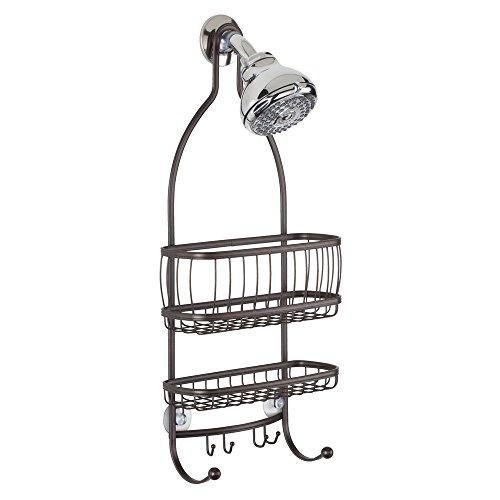 Interdesign york lyra bathroom shower caddy shelves for Interdesign york