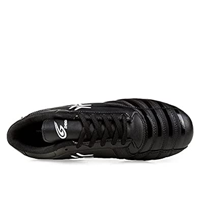 Anduode Mens Firm Ground Soccer Cleats Soccer Shoes Football Shoes Black