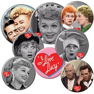 (I Love Lucy Buttons Set)
