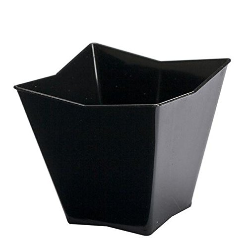 Mini Ware Large Plastic Star Cup Black/Case of 288