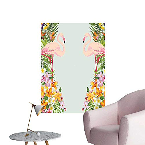 - SeptSonne Wall Decoration Wall Stickers Flamingos Tropical Flamingos for Home Baby Print Artwork,32