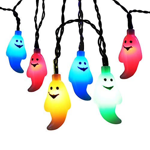 Dressing Up Fairies (Brizled Halloween Lights, 10.5ft 30 LED Ghost String Lights, Battery Fairy Lights Steady/Flickering Indoor Lights Decor for Halloween, Chiristmas, Party, Carnival and Any Special Events -)