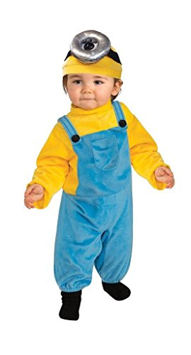 Rubie's Costume Co Baby Boys' Minion Stewart Romper Costume, Yellow, Toddler (Family Halloween Costumes With Toddler)