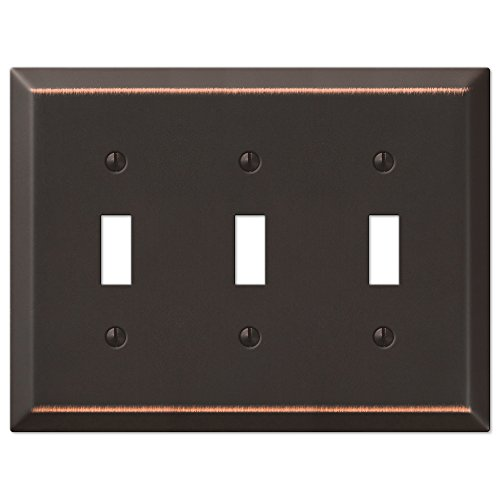 Oil Rubbed Bronze - Traditional Design Triple Toggle Switch Wall Plate