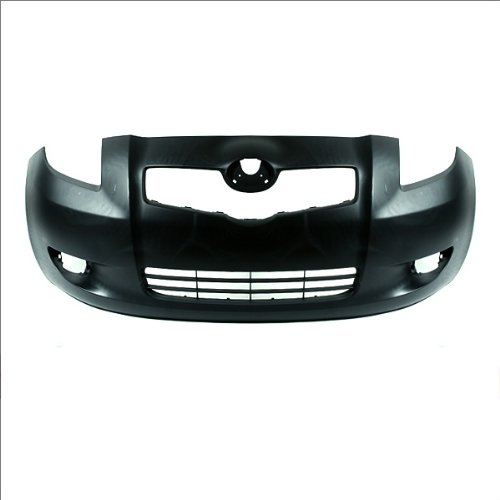 CarPartsDepot, Primered Black Front Bumper Cover Replacement Unpainted, 352-44691-10-PM TO1000325 5211952925 5211952922