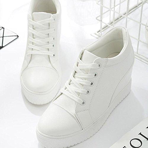Pp Mode Femmes Casual Wedges Chaussures De Sport Caché Talon Plate-forme Réchauffement Polaire Sneakers Blanc